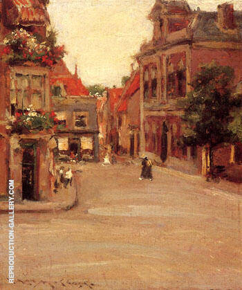 The Red Roofs of Holland  aka A Street in Holland 1903 By William Merritt Chase Replica Paintings on Canvas - Reproduction Gallery