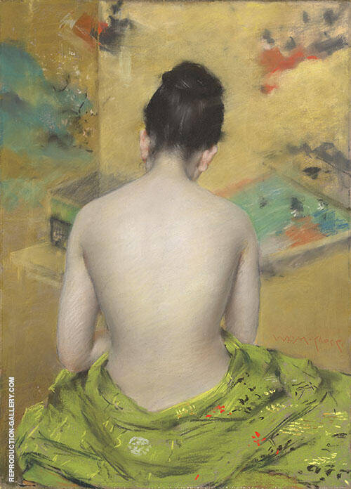 Back of a Nude 1888 By William Merritt Chase