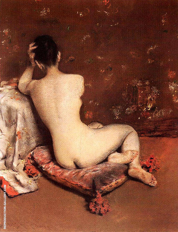 The Model Painting By William Merritt Chase - Reproduction Gallery