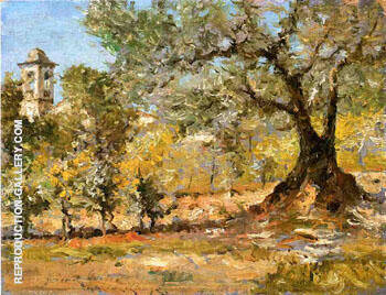 Olive Trees in Florence 1911 Painting By William Merritt Chase