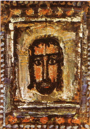The Holy Face 1935 By George Rouault - Oil Paintings & Art Reproductions - Reproduction Gallery