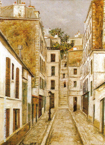 Impasse Cottin 1911 By Maurice Utrillo Replica Paintings on Canvas - Reproduction Gallery