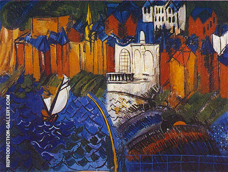 Sailing Boats at Sainte-Adresse 1912 By Raoul Dufy Replica Paintings on Canvas - Reproduction Gallery