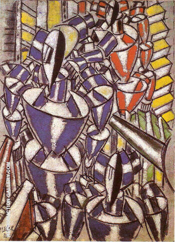The Stairway 1914 Painting By Fernand Leger - Reproduction Gallery