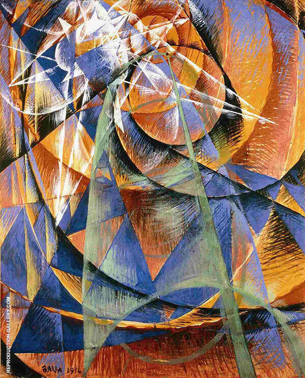 Mercury Passing Before the Sun 1914 Painting By Giacomo Balla