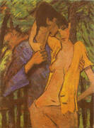 Lovers 1919 By Otto Mueller