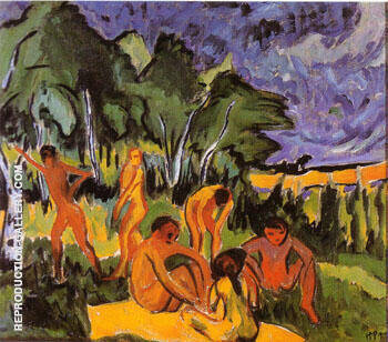 Open Air Moritzburgh 1910 By Max Pechstein