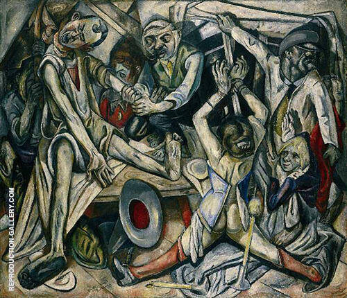 The Night c1918 By Max Beckmann Replica Paintings on Canvas - Reproduction Gallery