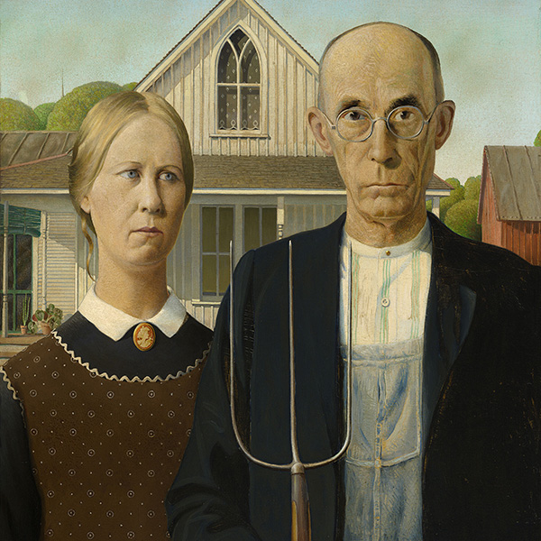Oil Painting Reproductions of Grant Wood