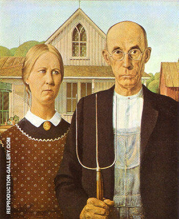 Reproduction of American Gothic 1930 by Grant Wood | Oil Painting Replica On CanvasReproduction Gallery