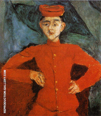 Page Boy at Maxim's 1925 By Chaim Soutine - Oil Paintings & Art Reproductions - Reproduction Gallery