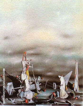 The Palace of the Window Cliffs 1942 Painting By Yves Tanguy