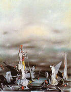 The Palace of the Window Cliffs 1942 By Yves Tanguy