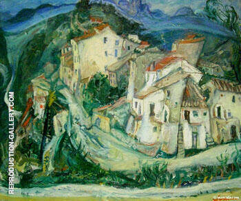 View of Cagnes 1924 Painting By Chaim Soutine - Reproduction Gallery