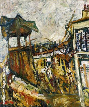 Parisian Suburb c1919 By Chaim Soutine