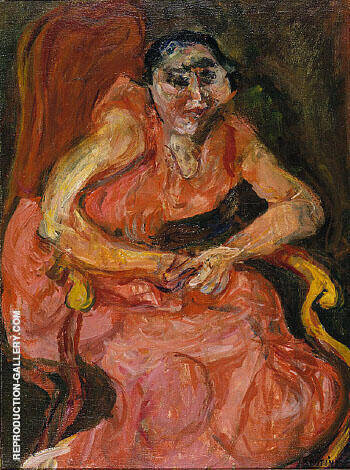 Reproduction of Woman in Pink 1924 by Chaim Soutine | Oil Painting Replica On CanvasReproduction Gallery