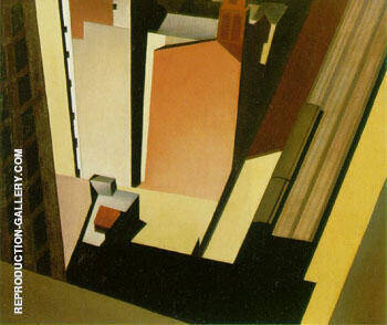 Church Street El 1920 Painting By Charles Sheeler - Reproduction Gallery