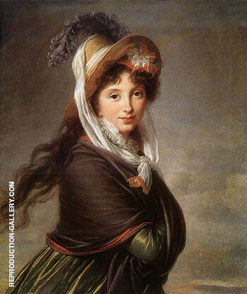 Portrait of  a Young Woman 1797 By Elisabeth Vigee Le Brun