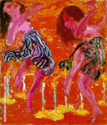 Reproduction of Candle Dancers 1912 by Emil Nolde | Oil Painting Replica On CanvasReproduction Gallery