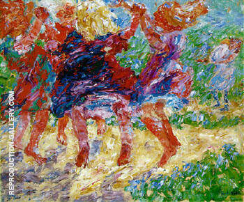 Wildly Dancing Children 1909 By Emil Nolde - Oil Paintings & Art Reproductions - Reproduction Gallery