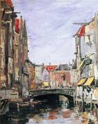 La Place Ary Scheffer, Dordrecht By Eugene Boudin