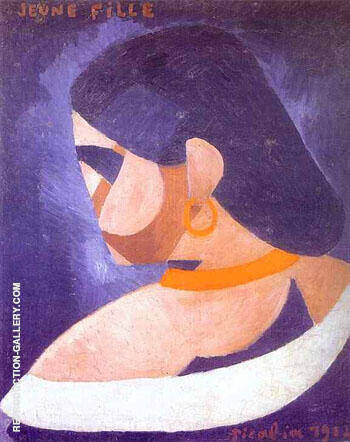 Young Girl Painting By Francis Picabia - Reproduction Gallery
