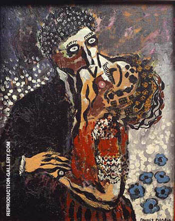 Reproduction of The Kiss c1923 by Francis Picabia | Oil Painting Replica On CanvasReproduction Gallery