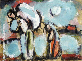 Peasant with Double Sack By George Rouault