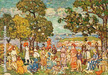 The Promenade c1912 By Maurice Prendergast Replica Paintings on Canvas - Reproduction Gallery