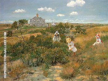 The Bayberry Bush c1895 By William Merritt Chase
