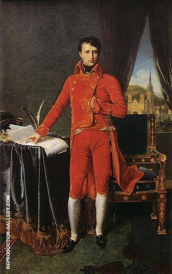 Bonaparte as First Consul 1804 By Jean-Auguste-Dominique-Ingres