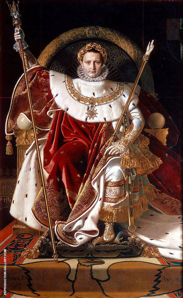 Napoleon I on His Imperial Throne 1806 Painting By ...