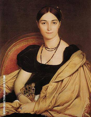 Madame Duvaucey 1807 By Jean-Auguste-Dominique-Ingres - Oil Paintings & Art Reproductions - Reproduction Gallery