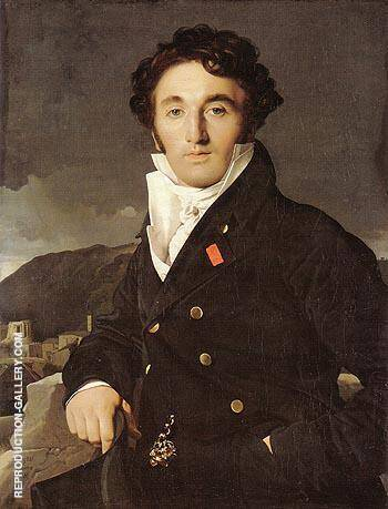 Charles Joseph Laurent 1811 By Jean-Auguste-Dominique-Ingres - Oil Paintings & Art Reproductions - Reproduction Gallery