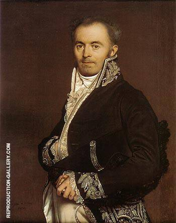 Hippolyte Francois Devillers 1811 By Jean-Auguste-Dominique-Ingres - Oil Paintings & Art Reproductions - Reproduction Gallery