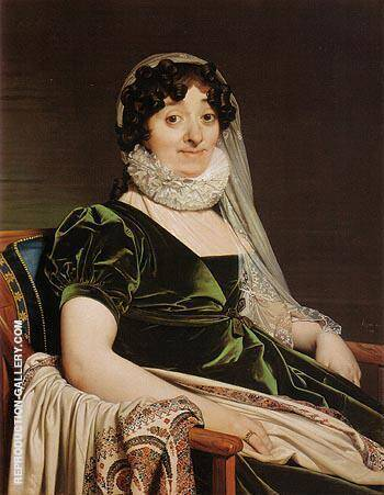 Reproduction of Comtesse de Tournon nee Genevieve de Seytres Caumont 1812 by Jean-Auguste-Dominique-Ingres | Oil Painting Replica On CanvasReproduction Gallery