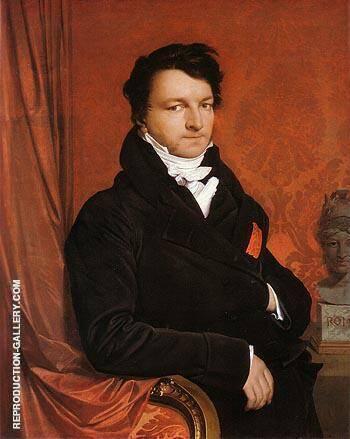 Jacques Marquet Baron de Montbetton de Norvins c1822 By Jean-Auguste-Dominique-Ingres