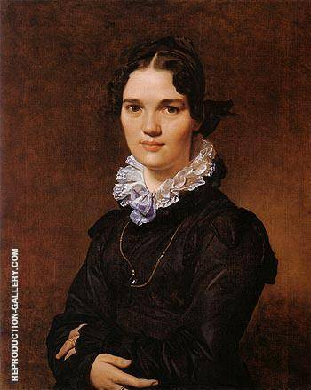 Mademoiselle Jeanne Suzanne Catherine Gonin 1822 By Jean-Auguste-Dominique-Ingres - Oil Paintings & Art Reproductions - Reproduction Gallery
