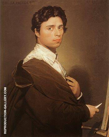 Self Portrait 1804 By Jean-Auguste-Dominique-Ingres - Oil Paintings & Art Reproductions - Reproduction Gallery
