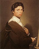 Self Portrait 1804 By Jean-Auguste-Dominique-Ingres