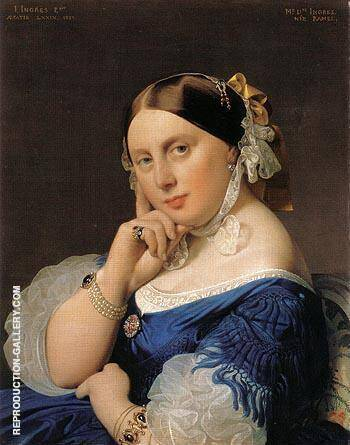 Madame J A D Ingres 1859 By Jean-Auguste-Dominique-Ingres