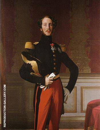 Ferdinand Philippe Louis Charles Henri Duc d Orleans 1842 By Jean-Auguste-Dominique-Ingres - Oil Paintings & Art Reproductions - Reproduction Gallery