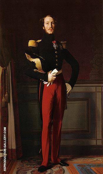 Ferdinand Philippe Louis Charles Henri Duc d Orleans 1844 By Jean-Auguste-Dominique-Ingres