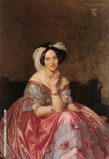 Baronne James de Rothschild 1848 By Jean-Auguste-Dominique-Ingres
