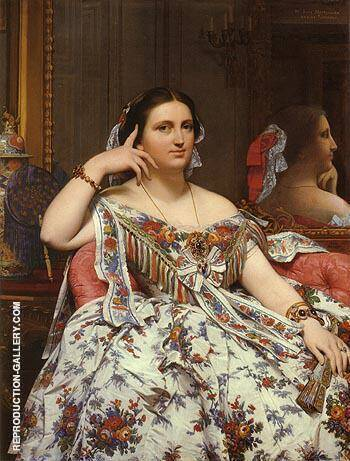 Madame Paul Sigisbert Moitessier 1856 By Jean-Auguste-Dominique-Ingres