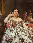 Madame Paul Sigisbert Moitessier 1856 By Jean-Auguste-Dominique-Ingres