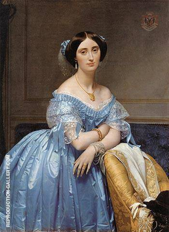 Portrait Of The Princesse De Broglie By Jean-Auguste-Dominique-Ingres