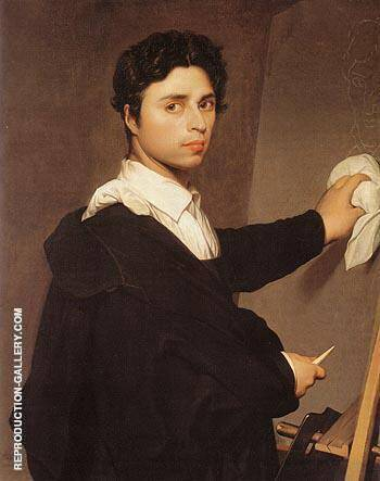 Copy after Ingres s 1804 Self Portrait By Jean-Auguste-Dominique-Ingres