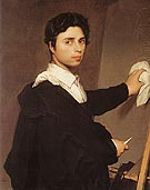 Copy after Ingres s 1804 Self Portrait By Jean-Auguste-Dominique-Ingres
