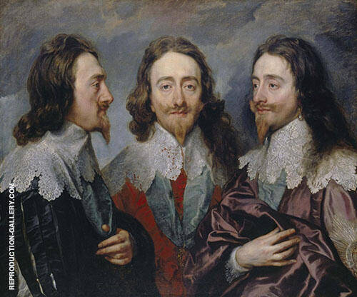 Triple Portrait of Charles I 1635 Painting By Van Dyck